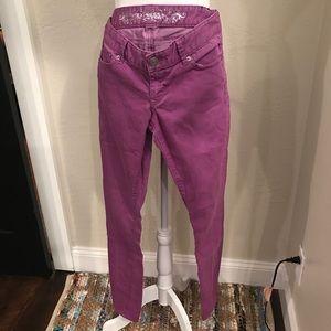 Express Zelda Jean legging size 6 purple